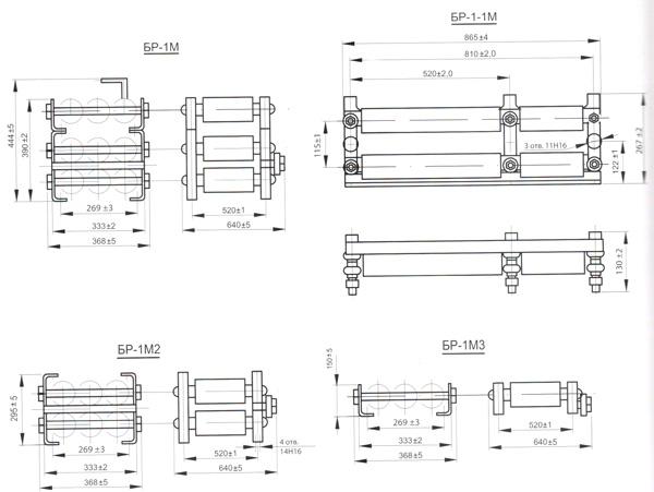 Блоки резисторов БР-1М,БР-1М1,БР-1М2,БР-1М3